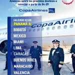 Rutas de vuelos Copa Airlines a partir del 04 de septiembre
