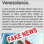 México exige visa a venezolanos es una noticia que circula por las redes